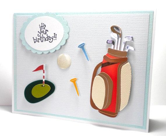 Happy birthday dad cards golf golf happy birthday card greeting card golfing golf balls m4hsunfo