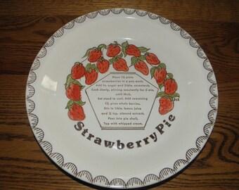 Strawberry Pie Pan with Recipe