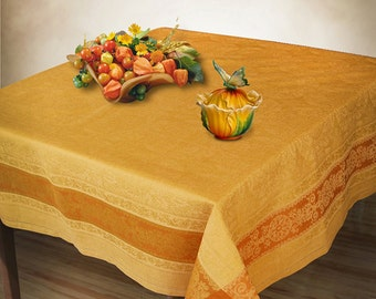 Mustard Jacquard Tablecloth Square Rectangle European Quality Linen Table  Cover Elegant Decor Dinner Tablecloth Boxing Day