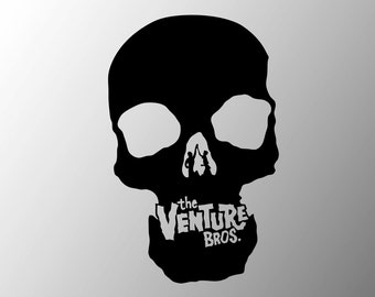 Venture Bros. Skull Logo vinyl sticker decal