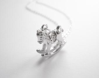Romantic Silver Horse Necklace