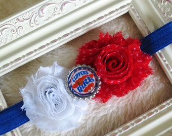 LA Clippers Baby Headband, Playoff Headbands, NBA Headband, Clipper Girls, Newborns, Infants, Toddlers, Baby Headbands, Girls, Adults