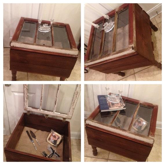 Old Window Coffee Table Shadow Box: Items Similar To Reclaimed, Vintage, Repurpose Window