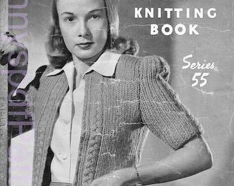 1940s Ladies Knitting Patterns - PDF Copy of Sun-glo Knitting Booklet Series 55