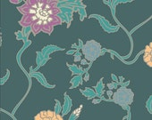Pat Bravo Fabric 'Gipsy Glitter' Lagoon Vines Art Gallery Fabrics