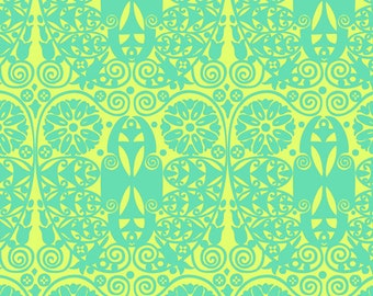 Amy Butler Fabric Soul Blossoms 'Temple Doors' in Fresh Mint 26 inches