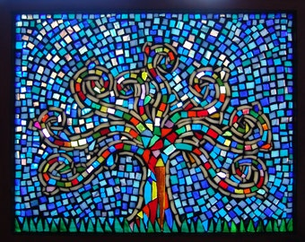 Window panel/ Colorful Mosaic/ Home decor