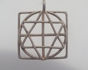 Sacred Geometry Sterling Silver Pendant