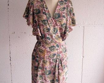Vintage 80s Floral Dress