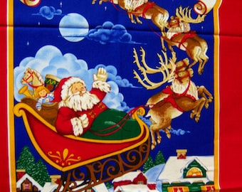 Vintage Cranston UNCUTE Christmas Card Holder 17 x 36 Twas the Night Before Xmas