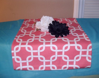 13 x 55 Coral Chain Link Table Runner, 13 x 36 Runner