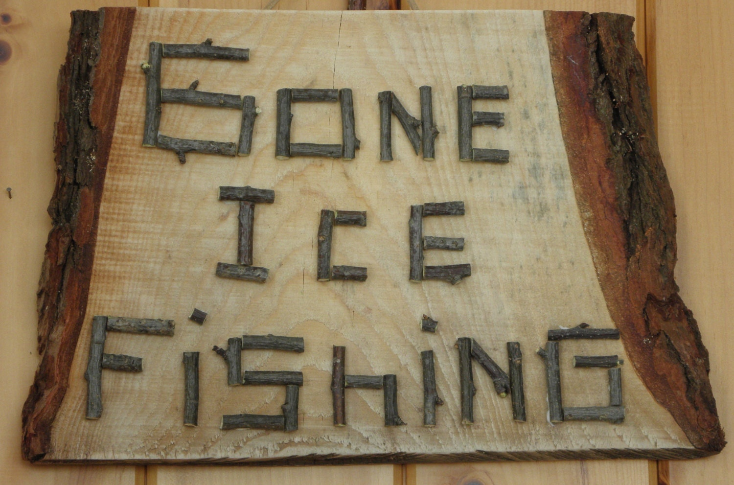 Fishing decor gone ice fishing lake house cottage camp for Fisherman home decor