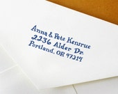 Hand Drawn Custom Address Stamp: Handmade Stamp - Great for Wedding, Snail Mail, and Business Correspondence