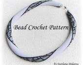 "Pattern for bead crochet necklace ""Marbles"""