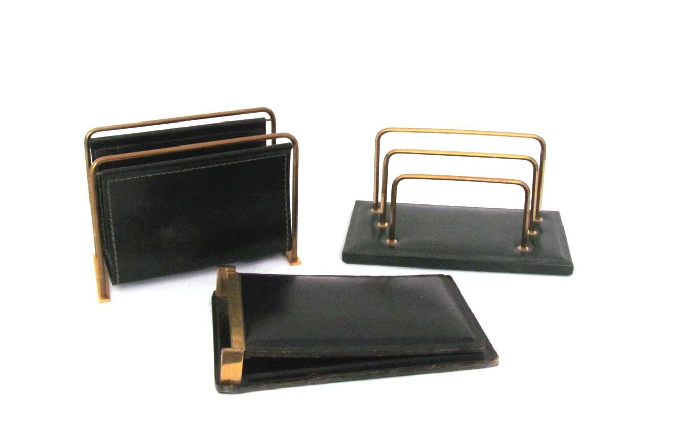 1950s desk accessory organizer set letter holder pad holder - Desk set organizer ...