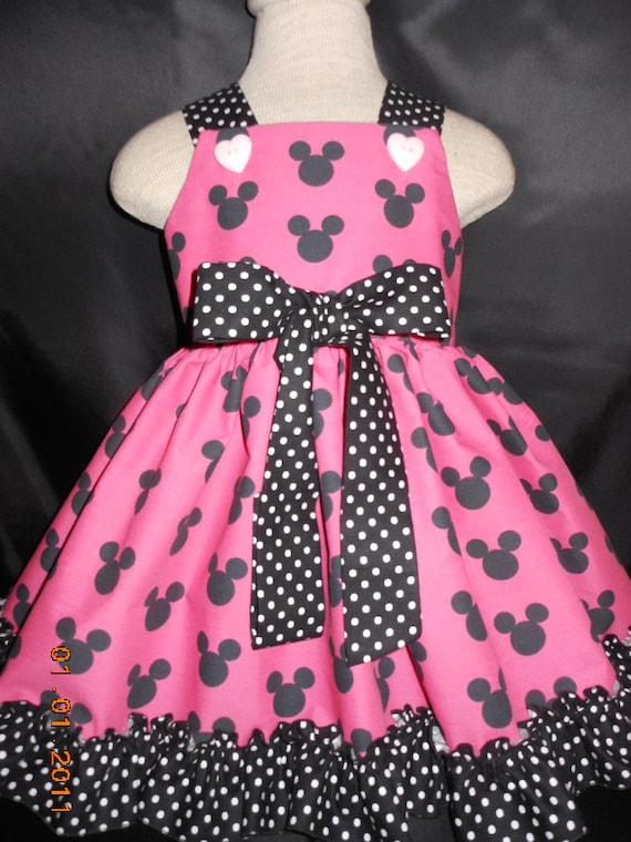 Toddler Dress Baby Dress Disney Minnie By Myprincessandherdoll