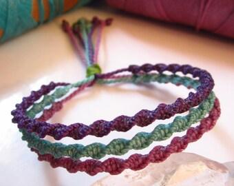 Handmade Friendship Bracelet Lila/Turquoise/Purple