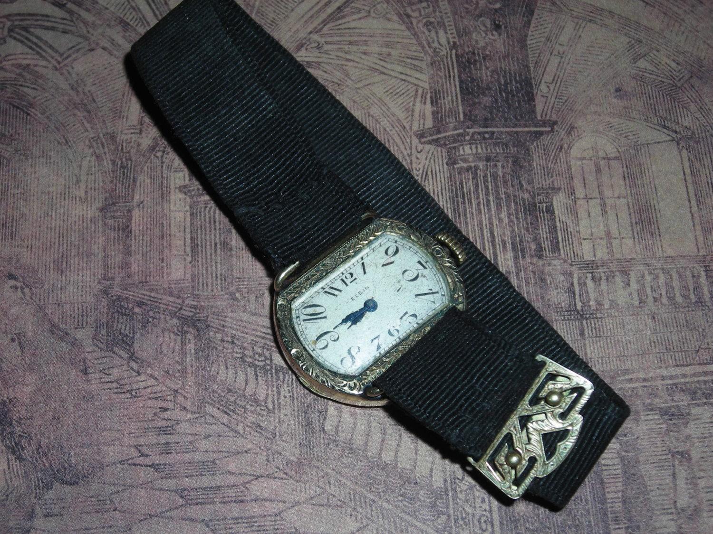 Rare Vintage 1922 Elgin Ladies Wrist Watch By