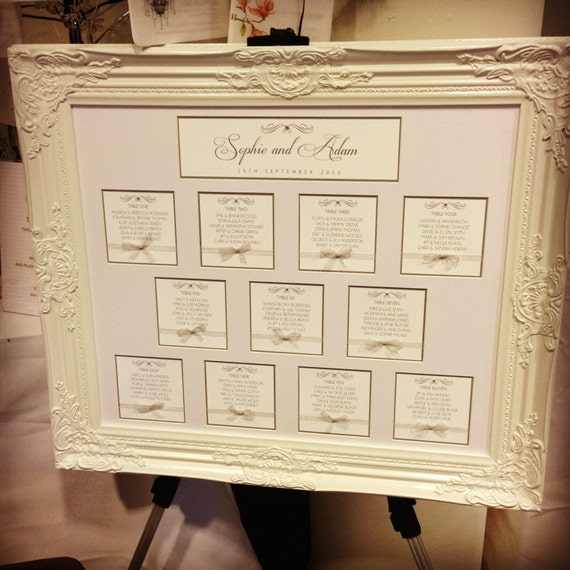 Beautiful Framed Wedding Seating Plan By Silviedesigns On Etsy