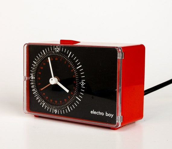Electro boy -  Vintage Alarm Clock / Timer - Vintage Electronic Accessory - 70's 80's Euro Design