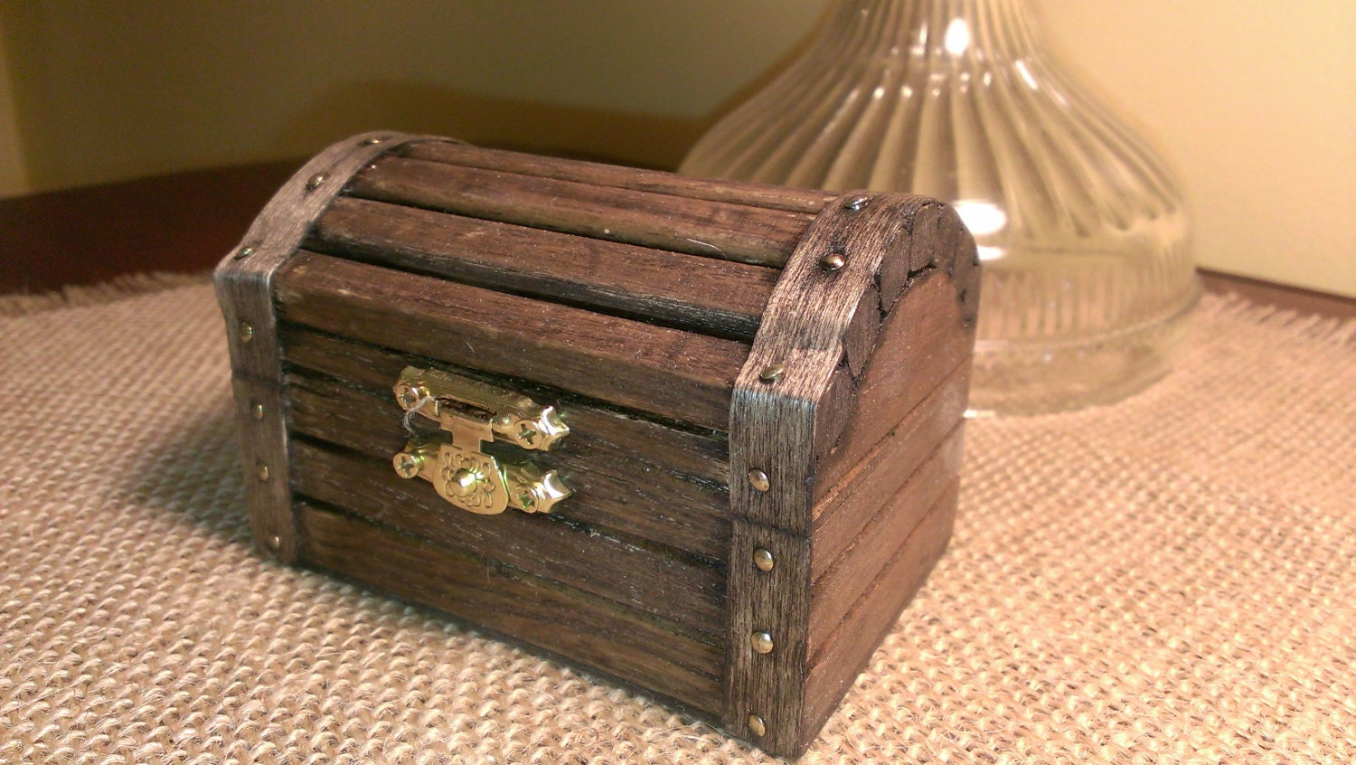 Beach wedding ring box nautical wedding wooden ring box for Storage treasures
