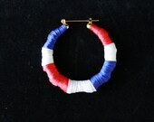 Large Domincan Republic or Cuban Flag Earrings