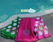 Monogrammed Beach Towel - great  bridesmaid or bachelorette gift