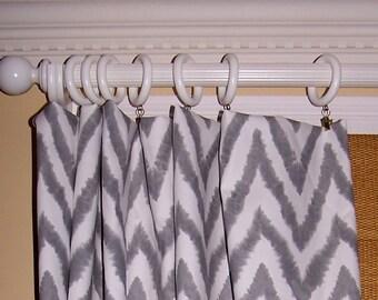 Curtains Ideas chevron curtains grey : Grey chevron valance | Etsy