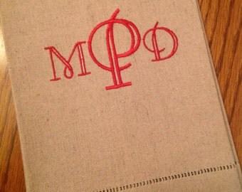 Monogrammed Linen Cotton Towel