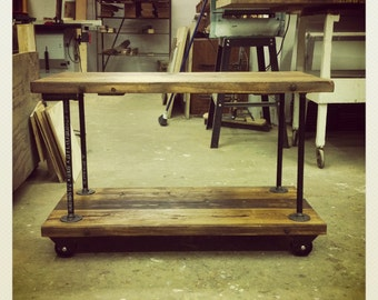 Cast-Iron Pipe Shelves
