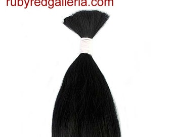 BD0008M1 Black Straight NuBorn Mohair 0.25 oz