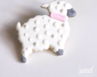 Lamb Cookie Favors  // One Dozen Sugar Cookies