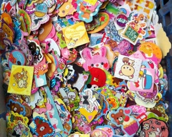 Kawaii Sticker Flakes, cute stickers, Kawaii, 50,75,100 stickers