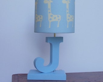 Letter Lamp Base - Handmade personalized table or desk lamp base - perfect for a nursery or childrens room