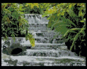 Stairs of  Water - Counted Needle Point and Cross Stitch Chart Patterns