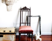 Vintage Victorian carved chair
