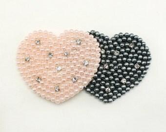 1 pc of Pearl beaded applique beaded Headband Hair Accessories Headpiece 20 Annielov