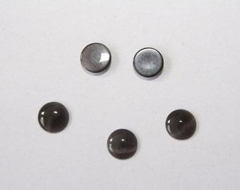 10PCs  Cateye Cabochons / black / 10 mm    C033