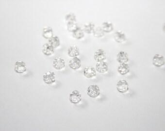 25 PCs 6mm Böhm. GPF062 clear Crystal Pearl
