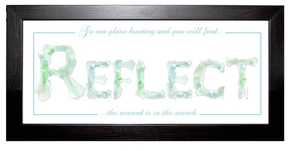 REFLECT Sea Glass framed print