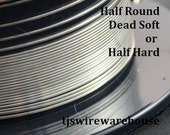 Sterling Silver Wire, 18g to 24g, HALF ROUND, Dead Soft, Half Hard, Length Choice, 925, Wholesale