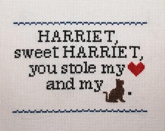 Harriet, Sweet Harriet sampler