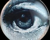 A61 Art Glass Cabochon - Dotty Eye