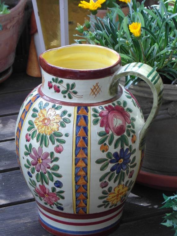bodenvase gro vase west deutsch keramik handarbeit rosen. Black Bedroom Furniture Sets. Home Design Ideas
