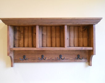 Cubby Shelf,Mud room shelf,  Wood Cubby, Cubby Storage, Cubby Organizer