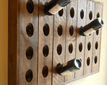 French Riddling Rack, Wine Rack, Riddling Rack, 28 Bottle Riddling Rack
