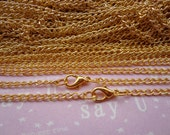Sale--100 pcs 18inch 2X3mm gold plated chain With lobster clasp