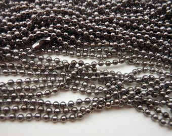 SALE--20 pcs 27inch, 2.4 mm Gunmetal Ball Chain Necklaces