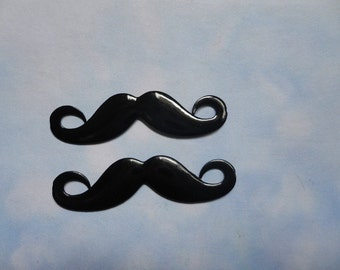 Sale--20pcs  45mmx11mm Lovely black mustache  charm.mustache pendant
