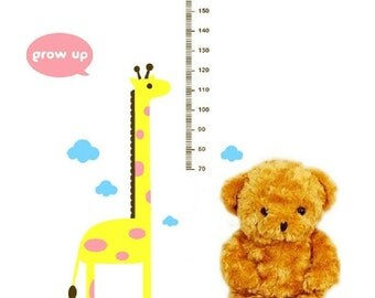 growth chart decal,growth chart wall decal,height chart decal,giraffe decal,giraffe growth chart  wall art,kids growth chart-160cm height
